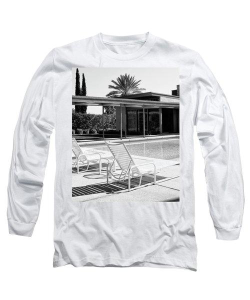Sinatra Pool Bw Palm Springs Long Sleeve T-Shirt