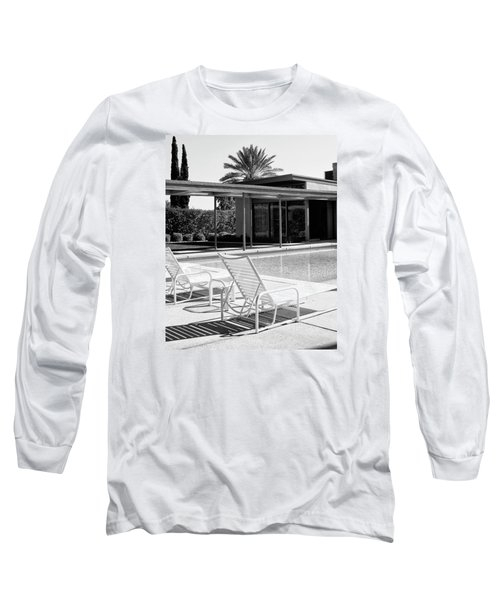 Sinatra Pool Bw Palm Springs Long Sleeve T-Shirt