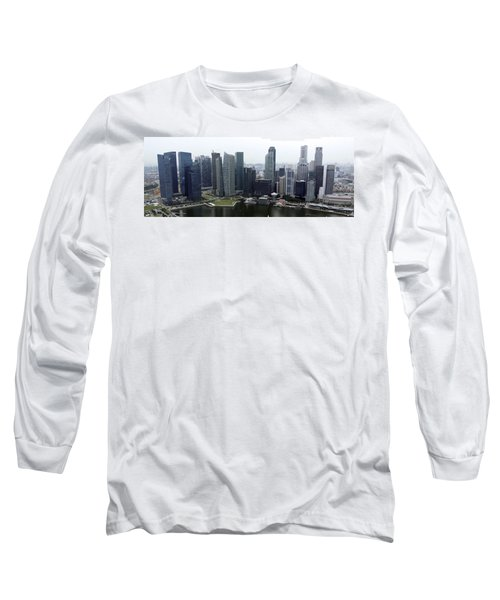 Long Sleeve T-Shirt featuring the photograph Singapore Skyline by Shoal Hollingsworth
