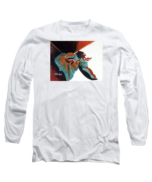 Singing Frog Duet 2 Long Sleeve T-Shirt by Kathy Braud