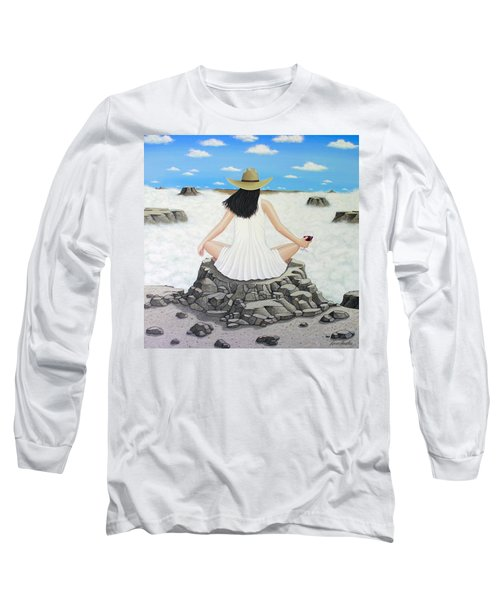 Sippin' On Top Of The World Long Sleeve T-Shirt by Lance Headlee