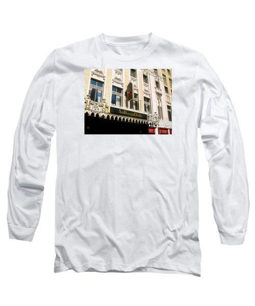 Sir Francis Drake Hotel Long Sleeve T-Shirt by Connie Fox