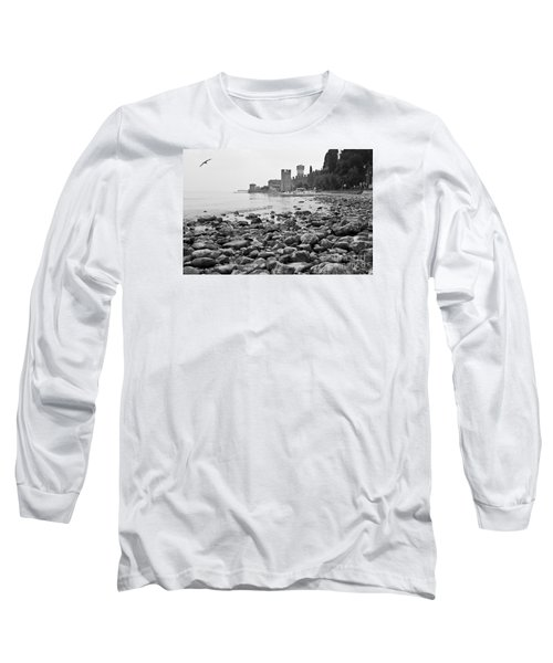 Long Sleeve T-Shirt featuring the photograph Sirmione Castle by Simona Ghidini