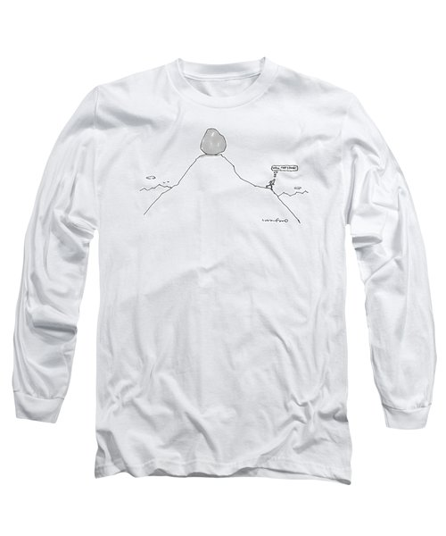 Sisyphus Balances The Boulder At The Top Long Sleeve T-Shirt