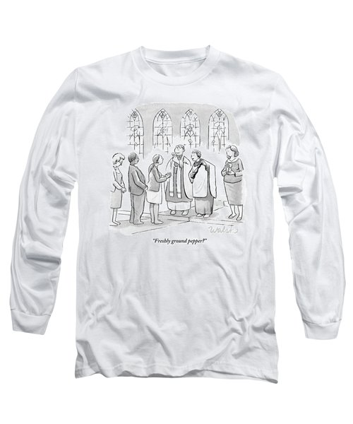 Six People In Church Long Sleeve T-Shirt
