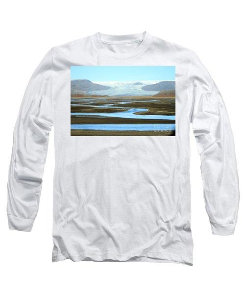 Skaftafell Glacier Long Sleeve T-Shirt by Paula Guttilla