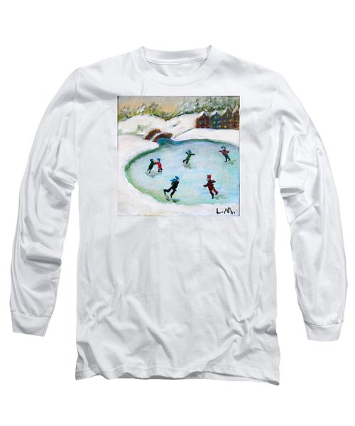 Skating Pond Long Sleeve T-Shirt by Laurie Morgan