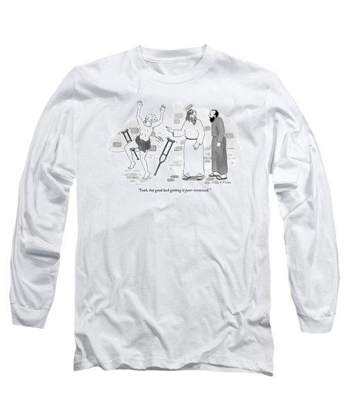Skeptical Monk Tells An Angel Who Long Sleeve T-Shirt