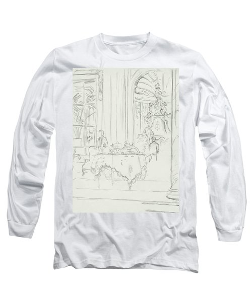 Sketch Of A Formal Dining Room Long Sleeve T-Shirt