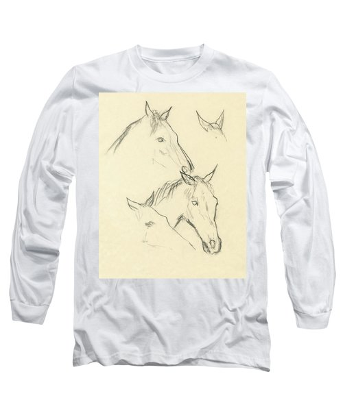 Sketch Of A Horse Head Long Sleeve T-Shirt