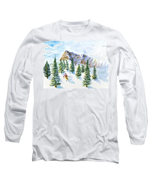 Skier In The Trees Long Sleeve T-Shirt