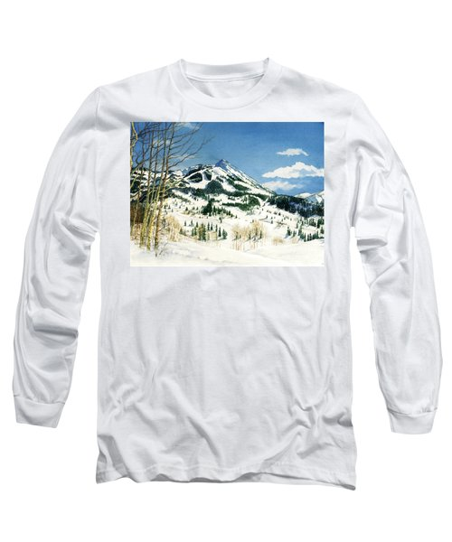 Skiers Paradise Long Sleeve T-Shirt by Barbara Jewell