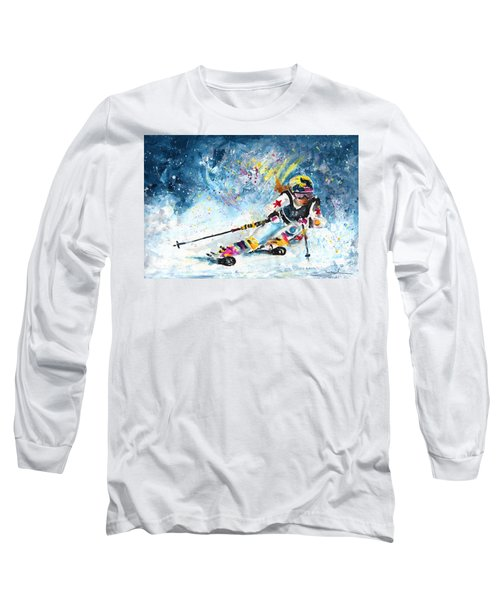 Skiing 03 Long Sleeve T-Shirt