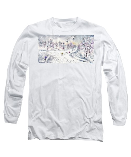 Skiing In The Dolomites In Italy 01 Long Sleeve T-Shirt