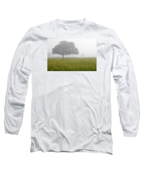 Long Sleeve T-Shirt featuring the photograph Skc 0056 Tree In Fog by Sunil Kapadia