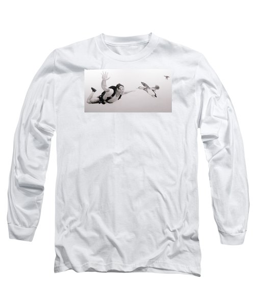 Skydiver Long Sleeve T-Shirt by Angel Ortiz