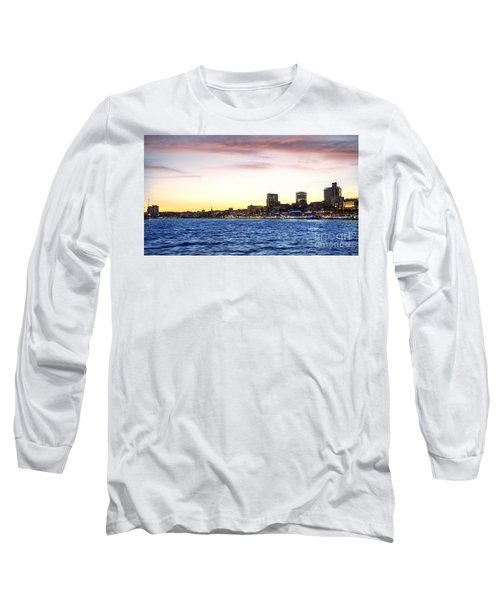 Skyline Hamburg Long Sleeve T-Shirt by Daniel Heine