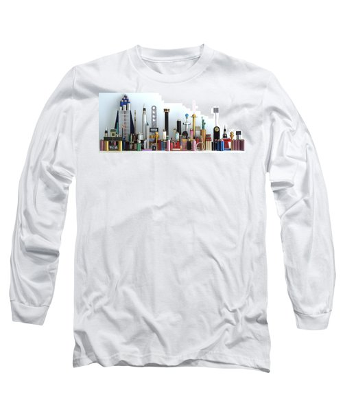 Skyline Sculpture Long Sleeve T-Shirt