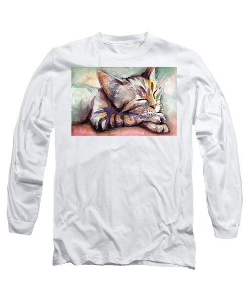 Sleeping Kitten Long Sleeve T-Shirt