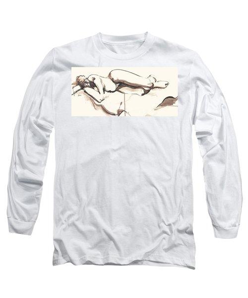 Sleeping Nude Long Sleeve T-Shirt
