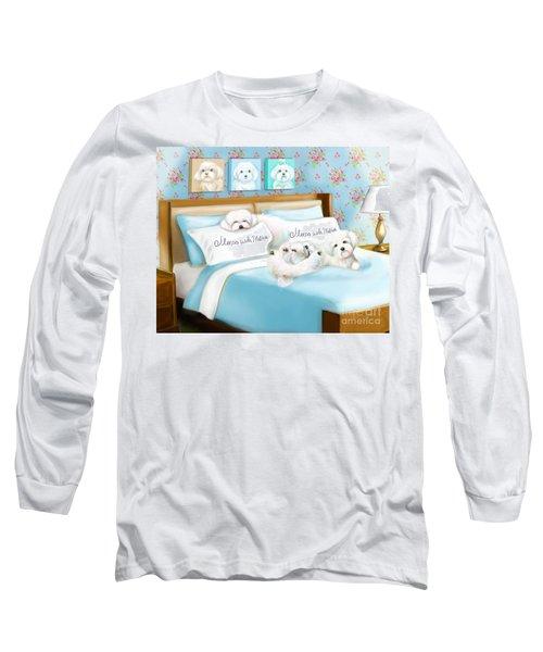 Sleeps With Maltese Long Sleeve T-Shirt