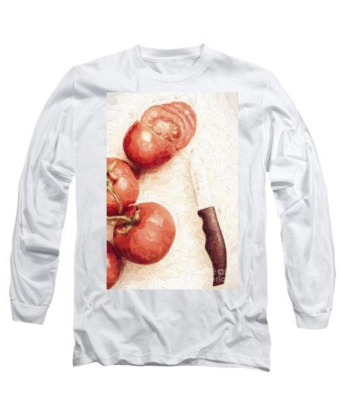 Sliced Tomatoes. Vintage Cooking Artwork Long Sleeve T-Shirt