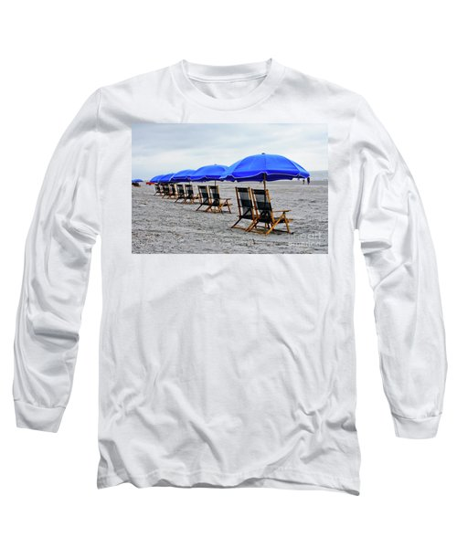 Slow Day At The  Beach Long Sleeve T-Shirt