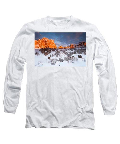 Smith Rock Snow Storm Long Sleeve T-Shirt