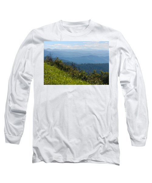 Smoky Mountains View Long Sleeve T-Shirt by Melinda Fawver