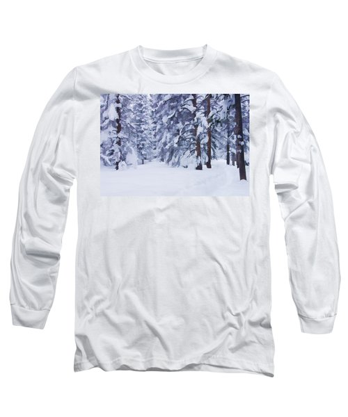Snow-dappled Woods Long Sleeve T-Shirt