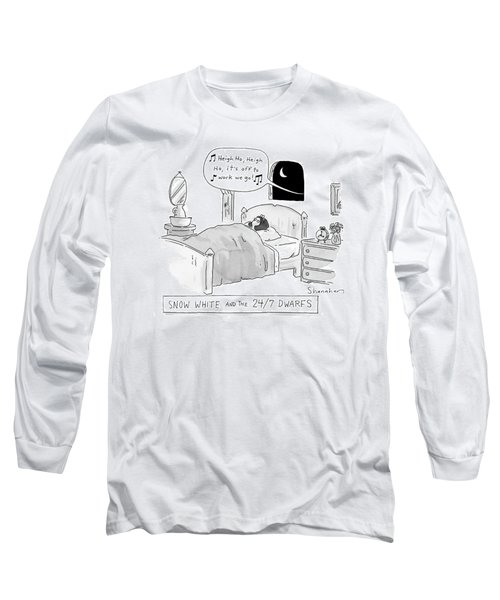'snow White And The 24/7 Dwarfs Long Sleeve T-Shirt