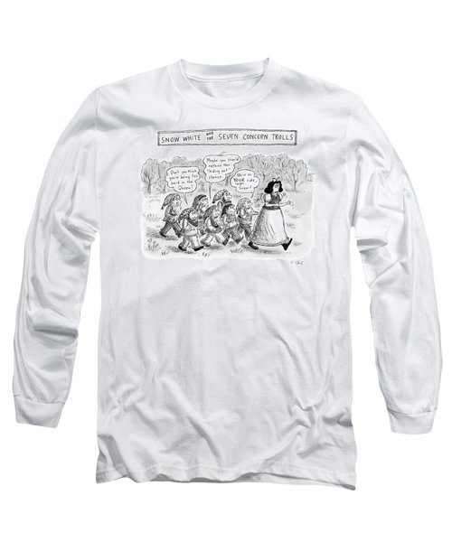 Snow White Is Storming Away From A Group Of Seven Long Sleeve T-Shirt