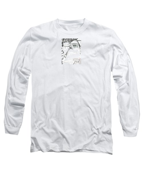 Long Sleeve T-Shirt featuring the digital art Snowbound by Jean Pacheco Ravinski