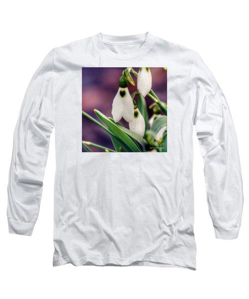 Snowdrops Long Sleeve T-Shirt by Kerri Farley