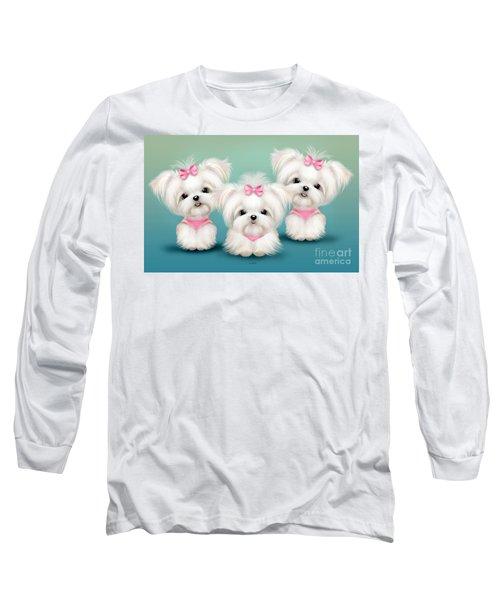 Snowflakes  Long Sleeve T-Shirt by Catia Cho
