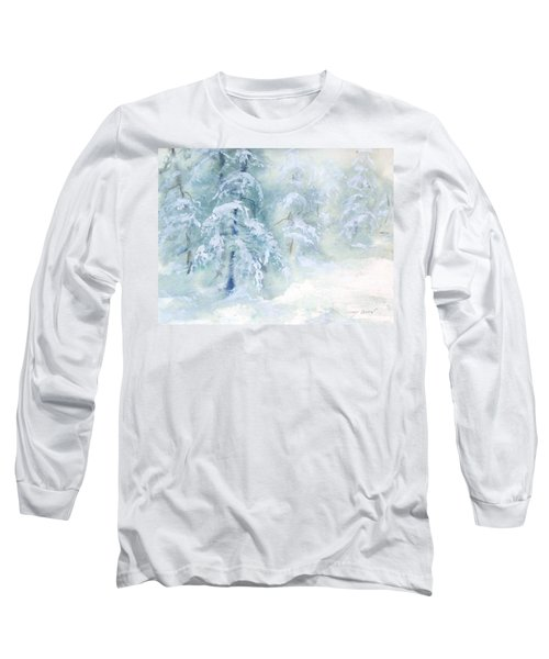 Long Sleeve T-Shirt featuring the painting Snowstorm by Joy Nichols