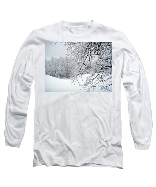 Snowy Branches Long Sleeve T-Shirt