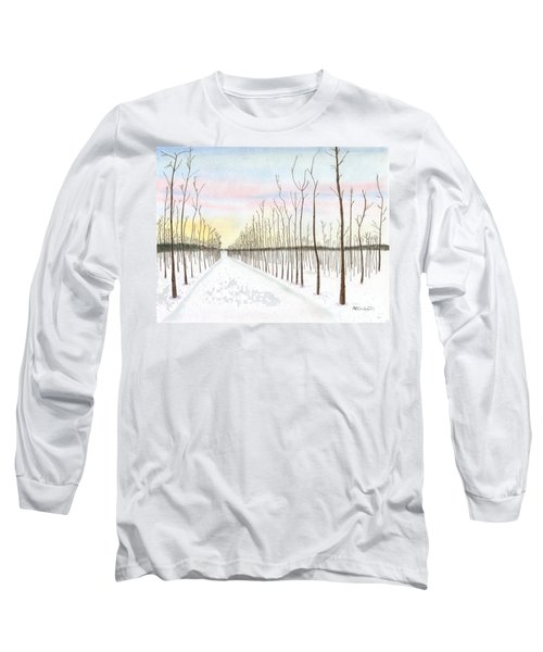 Snowy Lane Long Sleeve T-Shirt