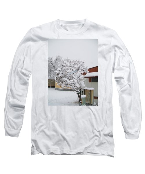 Long Sleeve T-Shirt featuring the photograph Snowy Lilac by Jewel Hengen