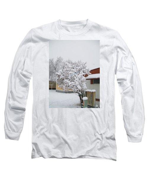 Snowy Lilac Long Sleeve T-Shirt