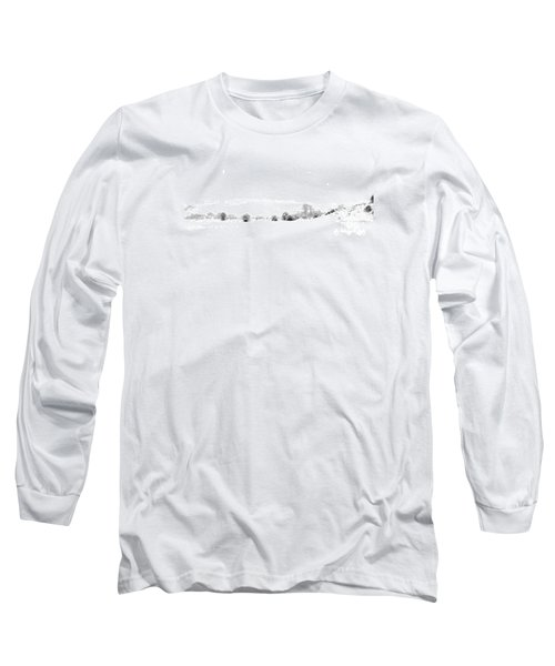 Long Sleeve T-Shirt featuring the photograph Snowy Panorama by Liz Leyden