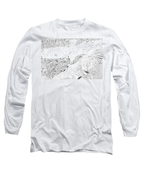 Soaring Hawks Indian Spirit White Gold Long Sleeve T-Shirt by Deprise Brescia