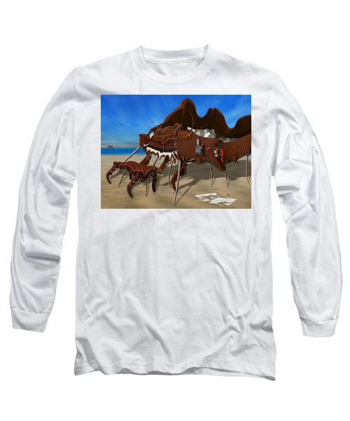Soft Grand Piano With Camera - Panoramic Long Sleeve T-Shirt