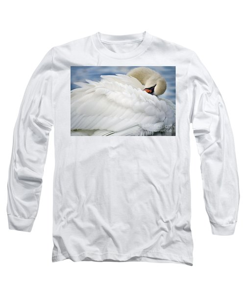 Softly Sleeping Long Sleeve T-Shirt by Deb Halloran