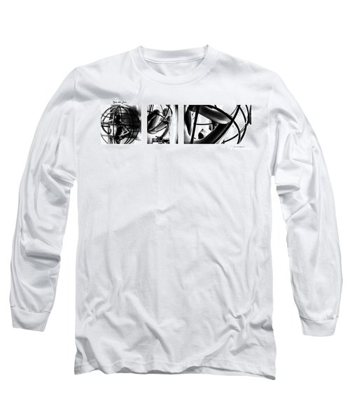 Long Sleeve T-Shirt featuring the photograph Solar Jail Triptych by Stwayne Keubrick