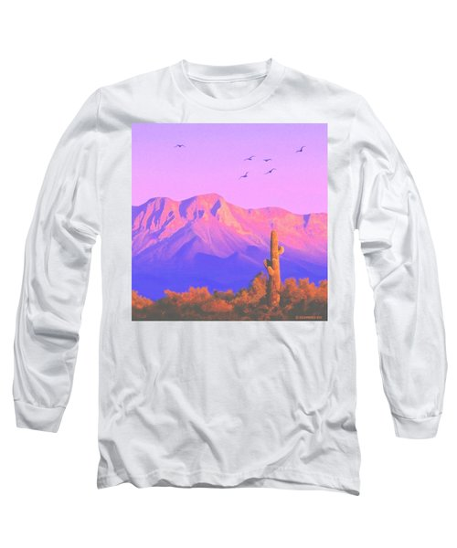 Long Sleeve T-Shirt featuring the painting Solitary Silent Sentinel by Sophia Schmierer