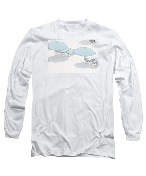 Long Sleeve T-Shirt featuring the photograph Some Beach        Somewhere by Susan  McMenamin