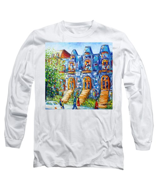 Somewhere In Montreal - Cityscape Long Sleeve T-Shirt