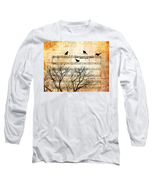 Songbirds Long Sleeve T-Shirt by Gary Bodnar
