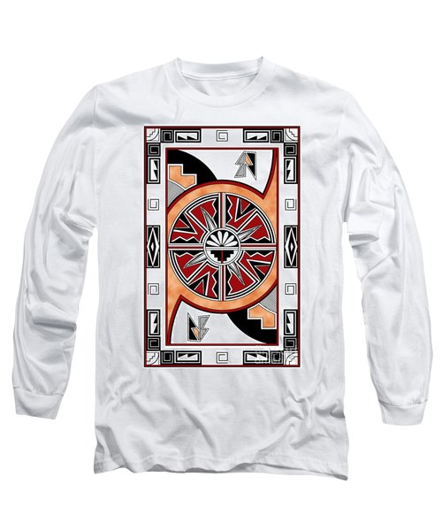Southwest Collection - Design Six In Red Long Sleeve T-Shirt